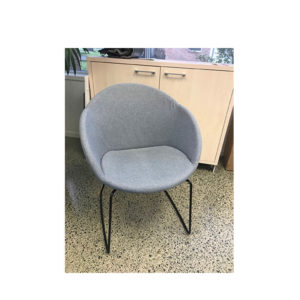 Grey chair with black base