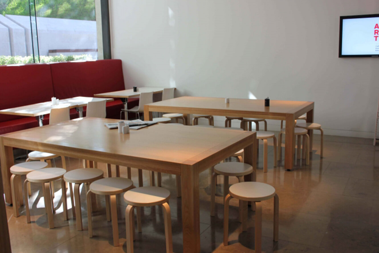 Timber table and stools