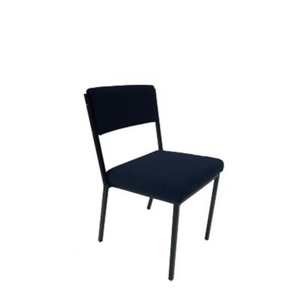 Navy chair with black frame