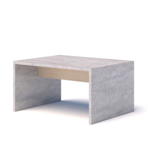 Concrete and maple coffee table