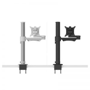 White and black monitor arm
