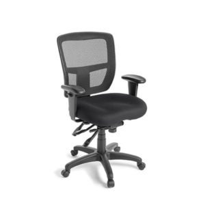 black mesh office chair with arms