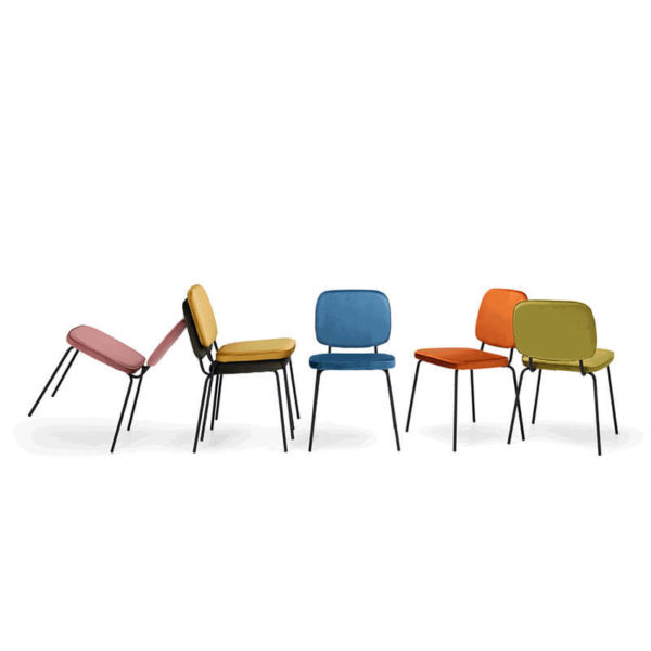 6 clyde chairs in each colour available