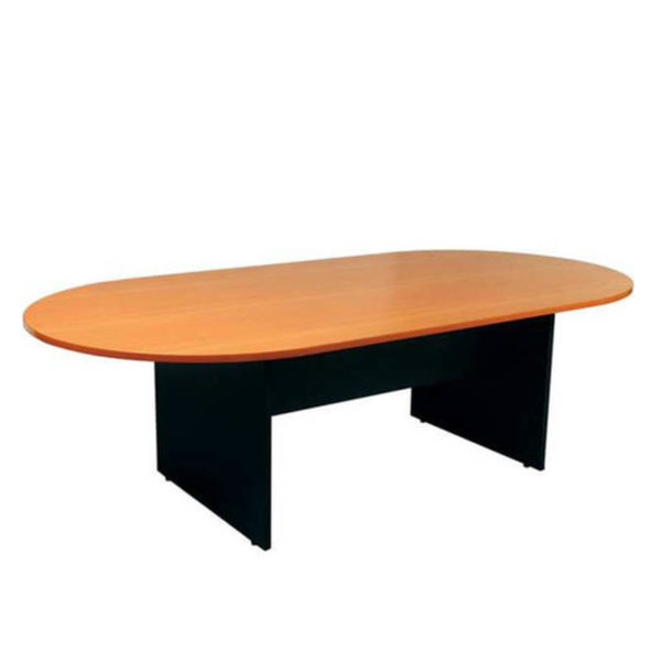 D End table with tawa top black base