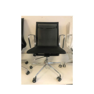 Black mesh eames chair