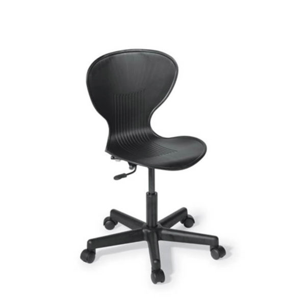 black chair with swivel base