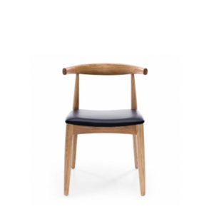 Natural timber chair with Black Seat