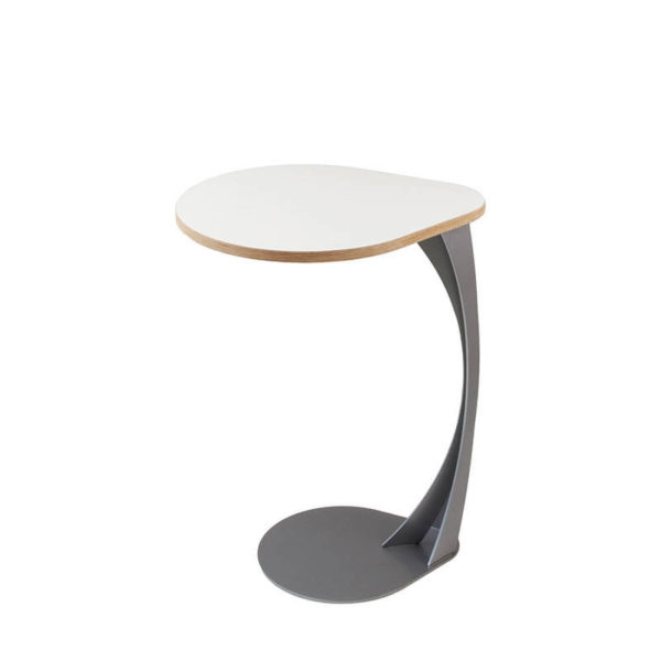white and grey laptop table
