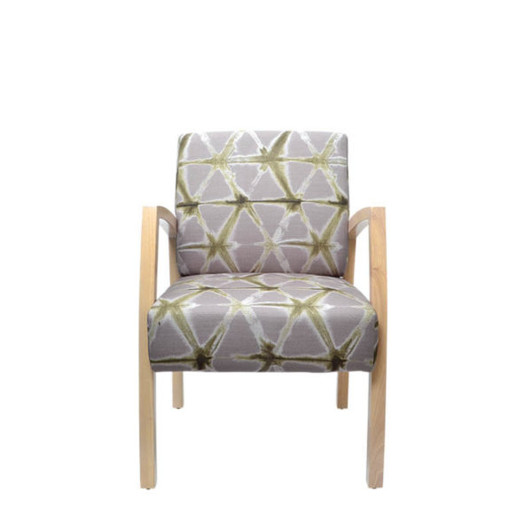 grey and timber chair