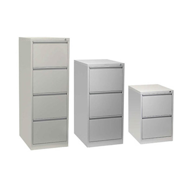 Silver filing cabinets