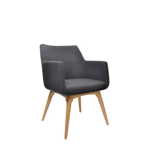 grey chair with tim