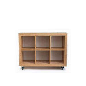Timber cube shelving