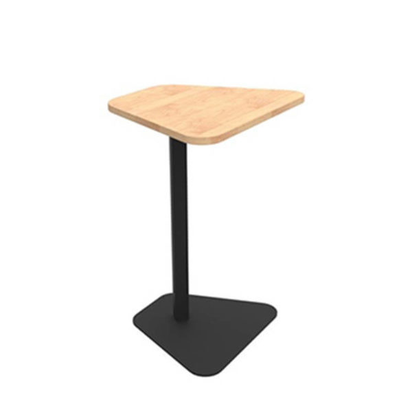 Black laptop table with timber melteca top