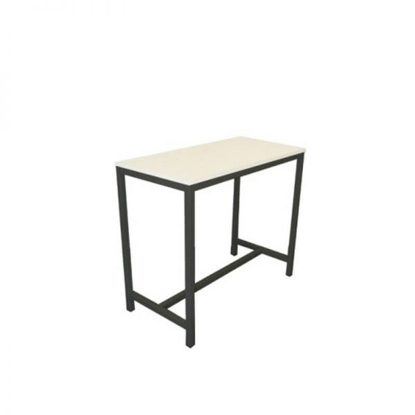White table with black base