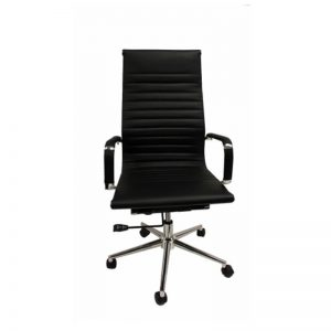 Black highback chair