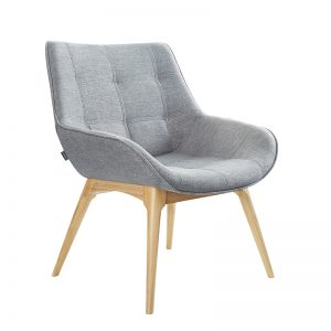 Neo angled View Grey Fabric timber base