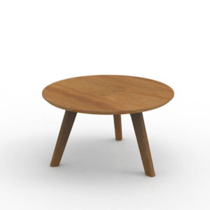 Round timber table