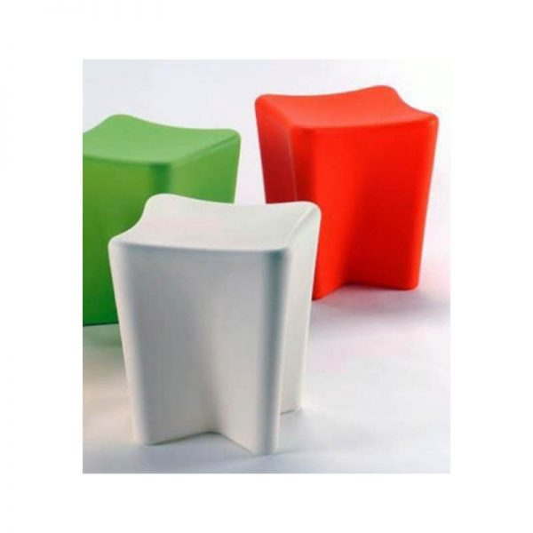pinch stool, white, red and green
