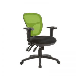 Green mesh back Quay office chairs