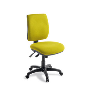 Yellow fabric on 3 lever task chair