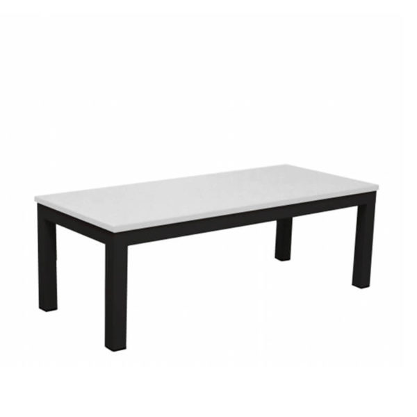 Black table with white top