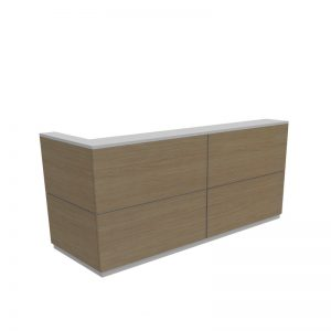 timber coloured reception counter