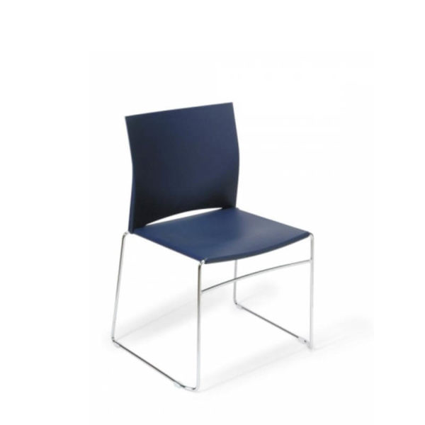 blue visitor chair