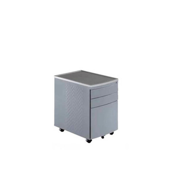 Silver 3 drawer mobile