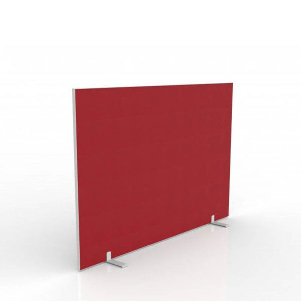 Red freestanding screen with feet