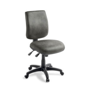 Grey 2 lever office chair