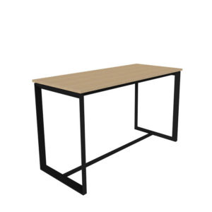 Leaner with black base and timber melamine top