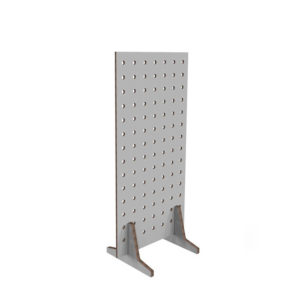White partition with holes