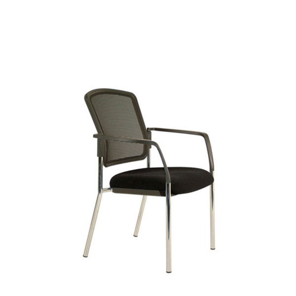Black mesh back visitor chair