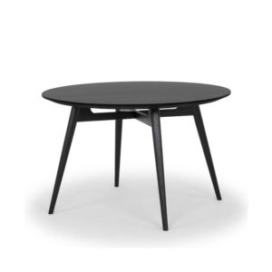 Round black timber table
