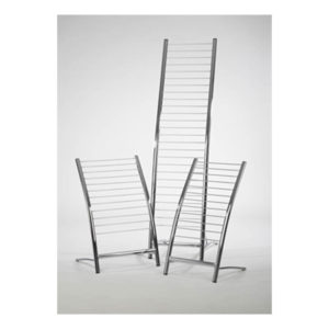 chrome magazine rack in 2 sizes small and tall