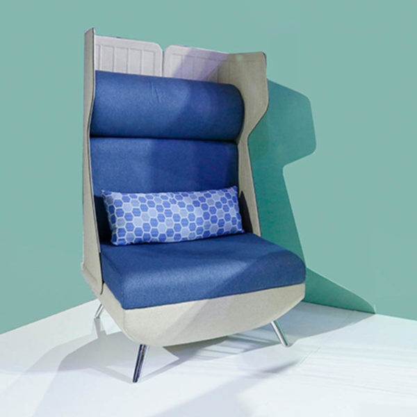 single seater chair with high back