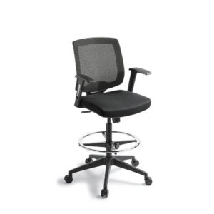 black mesh office chair with high gas lift foot ring