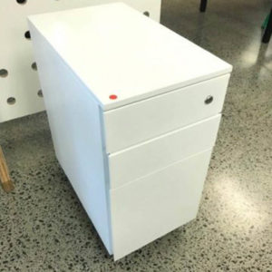 white mobile drawer