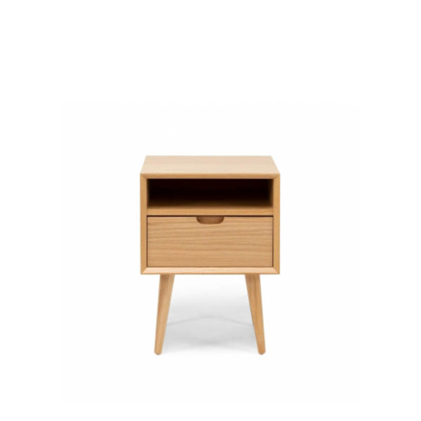 timber bedside with drawer