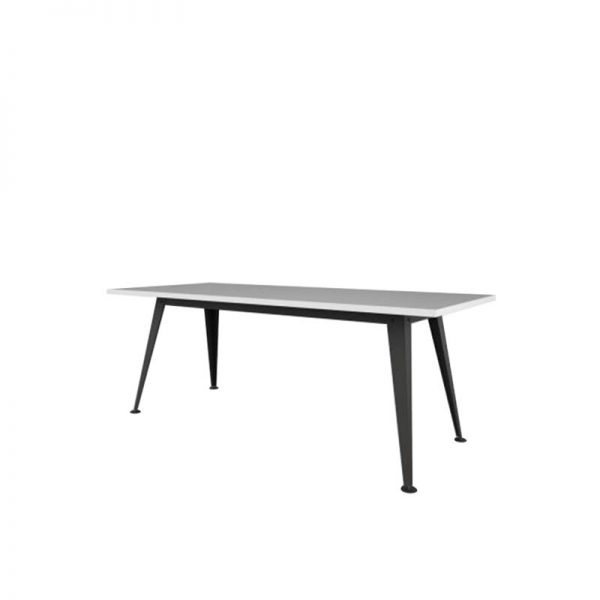 Table with white top black base