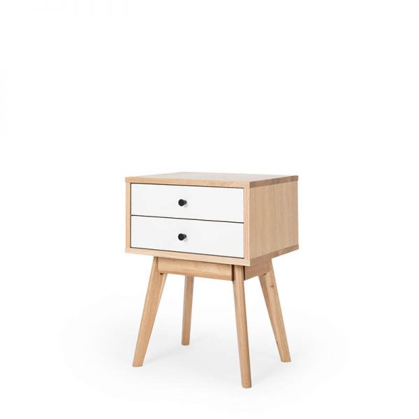 Bedside timber and white