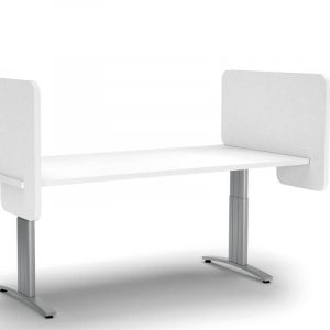 White Desk with light grey side screen