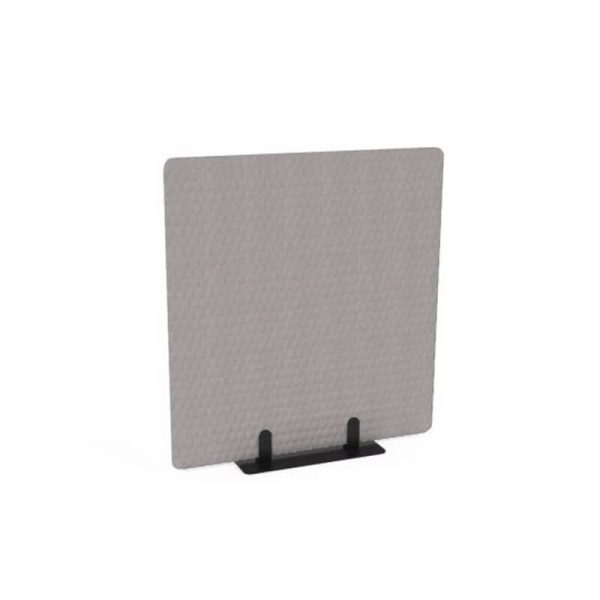 Grey fabric screen with black foot