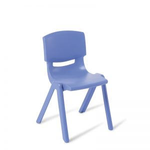 Blue olypropylene chair