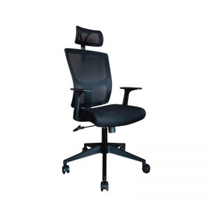 Black Mesh office chair. With headrest