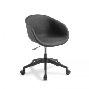 Dark Grey Fabric chair with black base