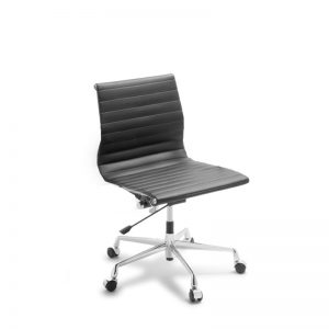 Black Eames replica chair without arms