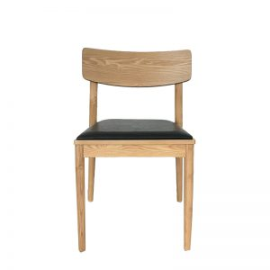 Timber chair with black seat