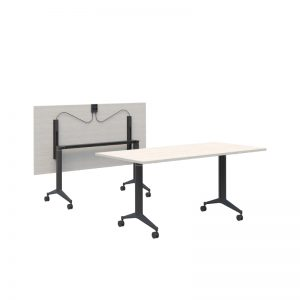 Boost table silver strata top with black base